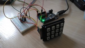PCF8574, keypad, and Arduino connected together